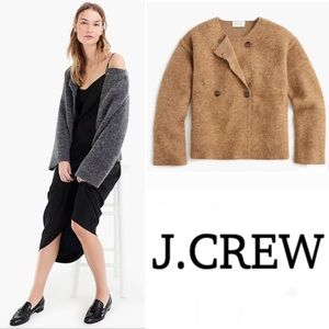J.crew Collarless Wool Coat L